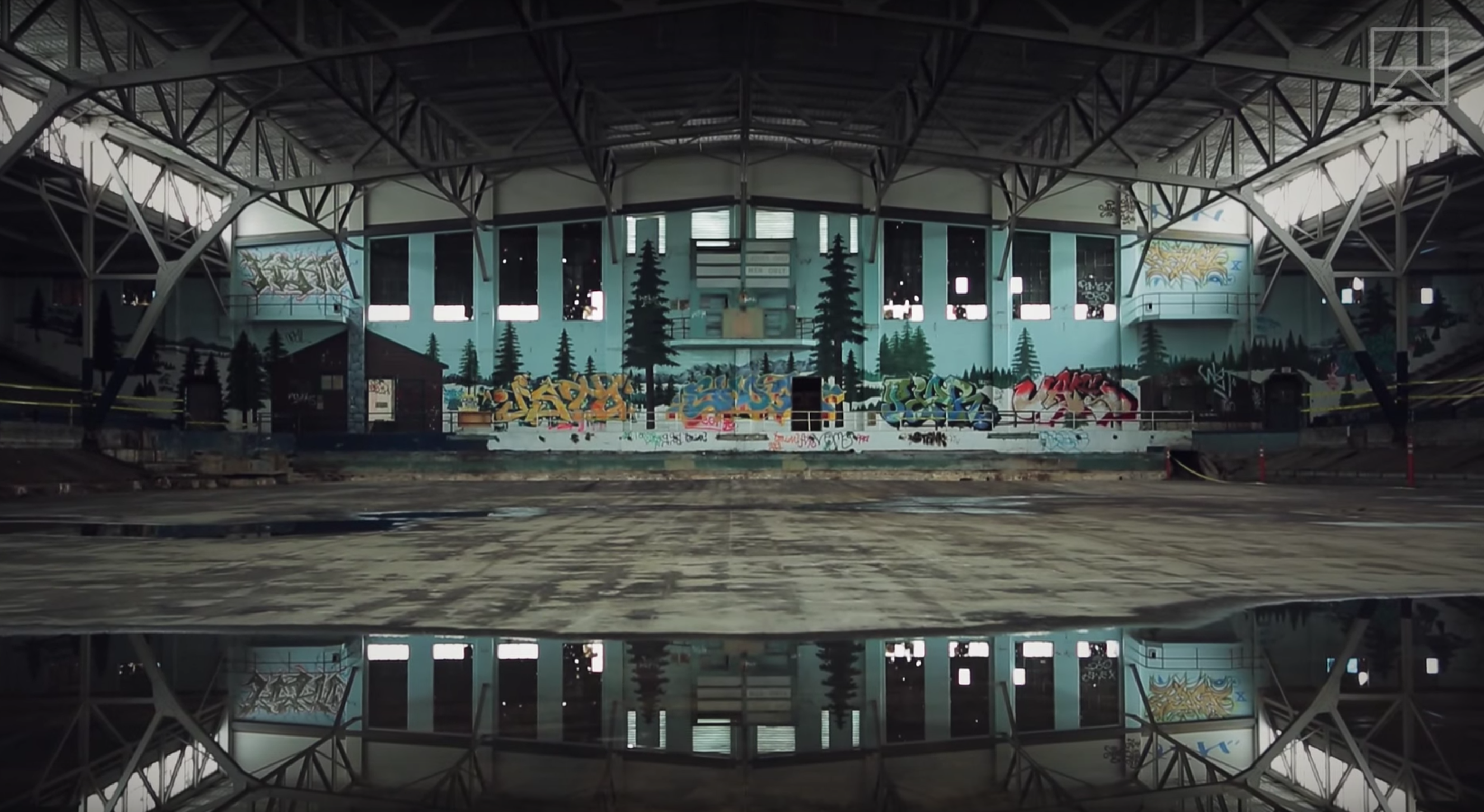 Beautiful Abandoned Olympic Sized Skating Rink In California