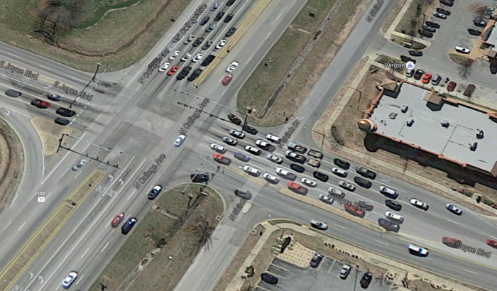 6. Intersection At College And Joyce, Fayetteville