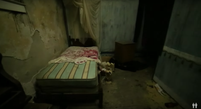 The haunted house last ran in 2009, but there are definite signs that people have been through since then.