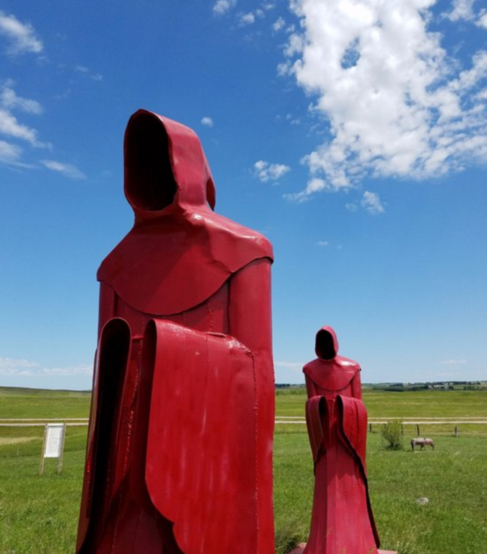 4. These are just the start of the many unusual and sometimes downright creepy sculptures at the Porter Sculpture Park in Montrose, South Dakota.