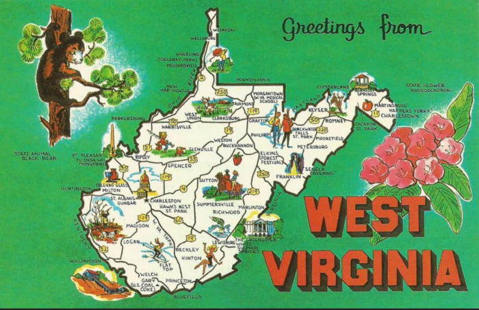 4. You've found yourself explaining to someone that Virginia and West Virginia are, in fact, separate states
