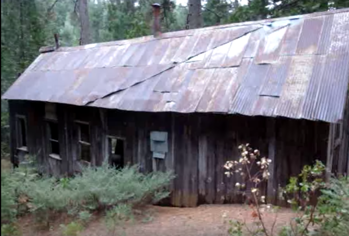 The explorer travels deep into the woods. He finds an old bunkhouse that still contains a few relics from its past life.