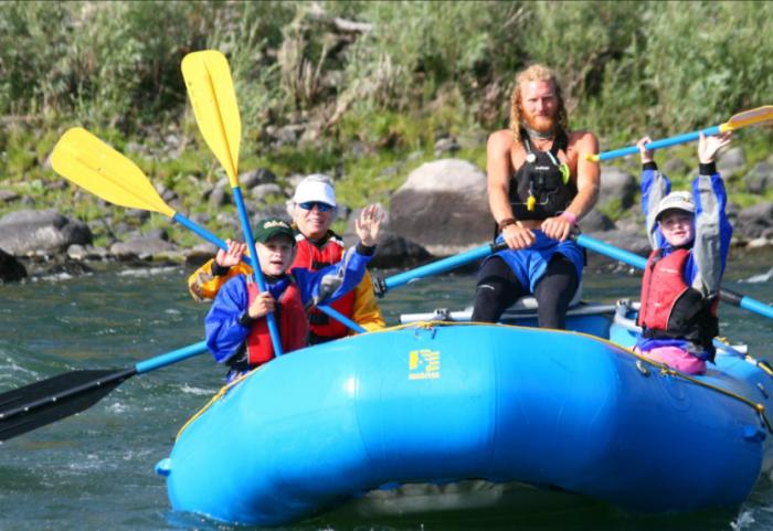 6. Whitewater rafting