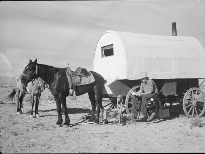 4. Sheep Wagon, Natrona County