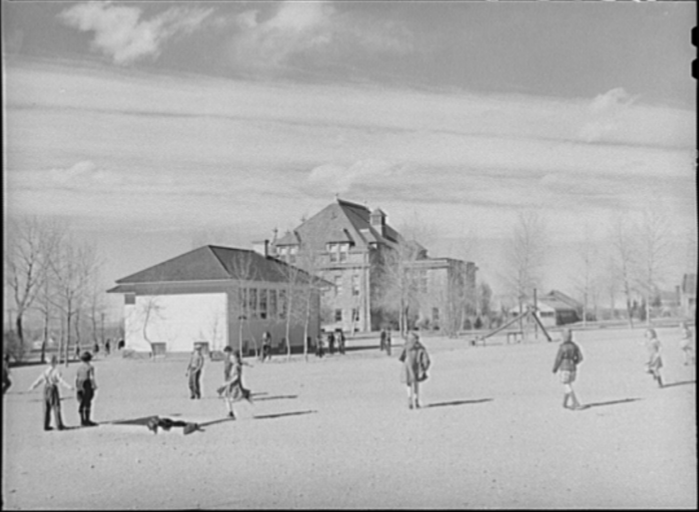 6. Grade School Pupils In Playground Of Experimental School For Education Of Students, University Of Wyoming At Laramie