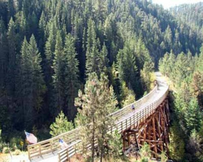 Over 100 railroad bridges were converted into parts of the trail, allowing you to easily traverse the landscape with unforgettable views.