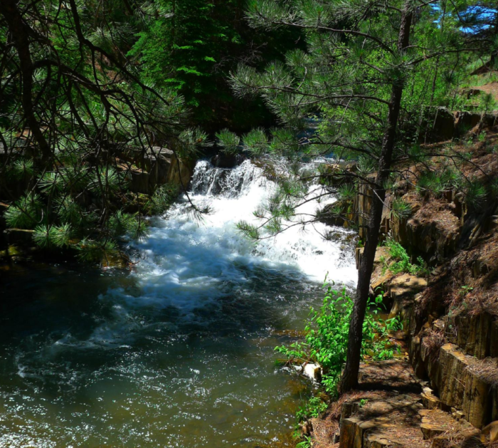 Many waterfalls can be spotted throughout the hike.
