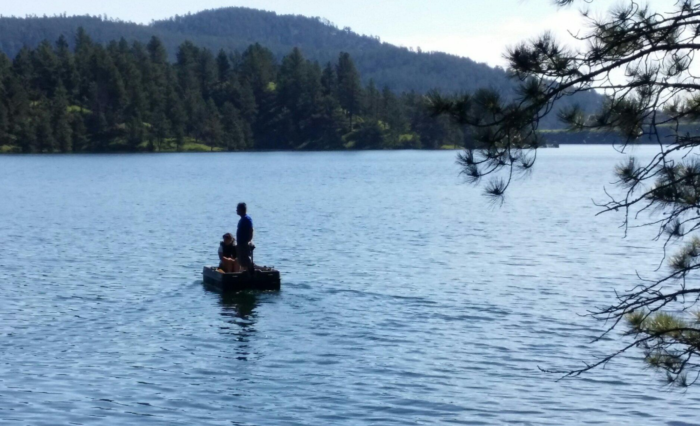 All kinds of activities take place on and in the water at Pactola Lake.