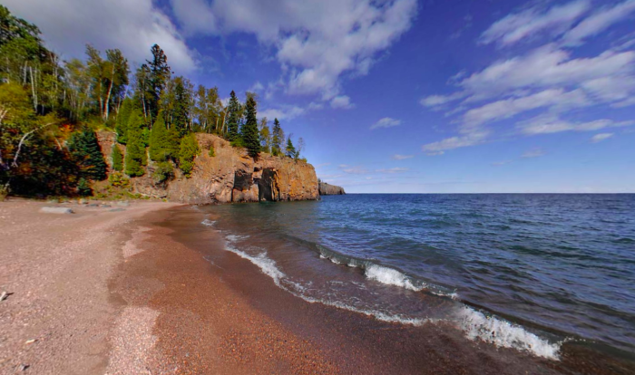 The cliffs are equally as stunning, and it's a perfect stopping point if you're paddling the Superior Water Trail.