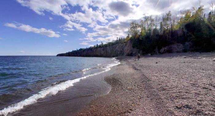 You'll find Crystal Bay's beach.