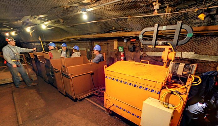 You'll find yourself headed down towards the mine's lowest level, the 27th, at 2,341 feet below ground.