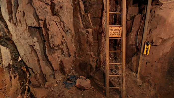 You'll see all sorts of pieces from when the mine was operating as you cart down the tunnel.