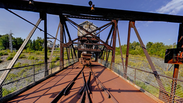 Once you're done, hop up and check out some of the other park views thanks to the elevated crusher house and trestle.