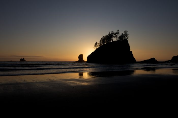 3. Camp on the beach on the Olympic Peninsula.