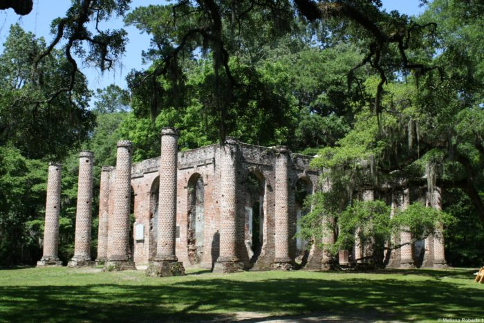 The ruins of Old Sheldon Church are the most visited attraction in Yemassee.