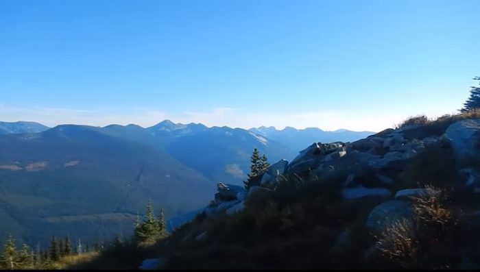In fact, you can see  the twinkling lights of Creston, British Columbia in the distance.