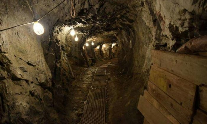 The mine consists of a maze of networked tunnels through the recesses of the earth and plunges over 2,800 feet below the surface.