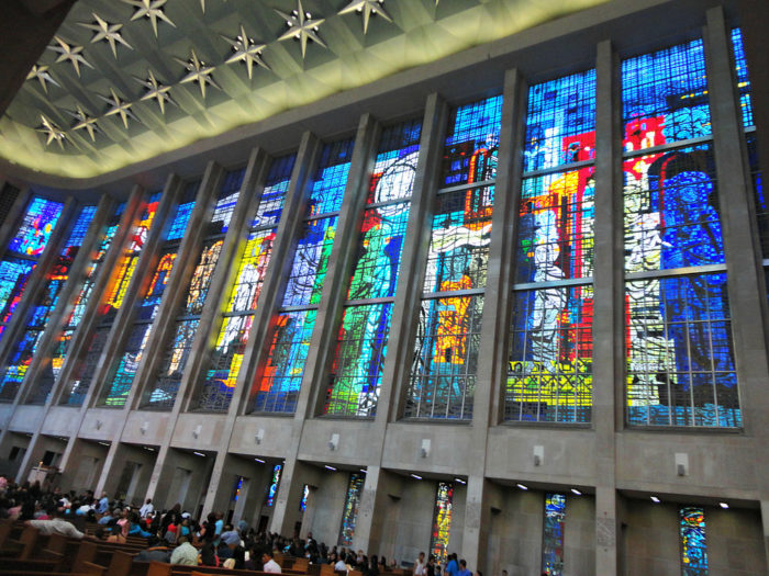 St._Joseph_Cathedral_stained_glass_on_the_right_side_of_the_cathedral.