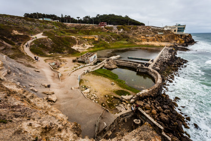 Since the fire, the baths have been left to ruins and are now part of the Golden Gate National Recreation Area. It's a very cool spot to explore.