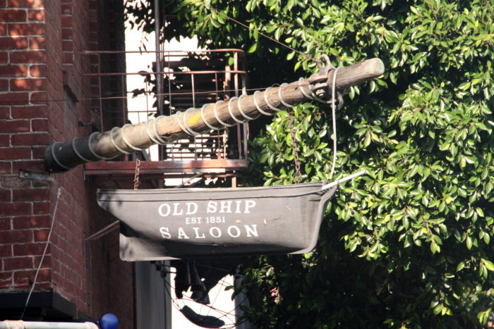 """A trip to the Old Ship Saloon on Pacific Avenue takes you right into the bow of a stranded ship, the """"Arkansas,"""" which sailed into the bay in 1849."""