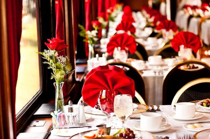 The dinner train cars were built in 1940.