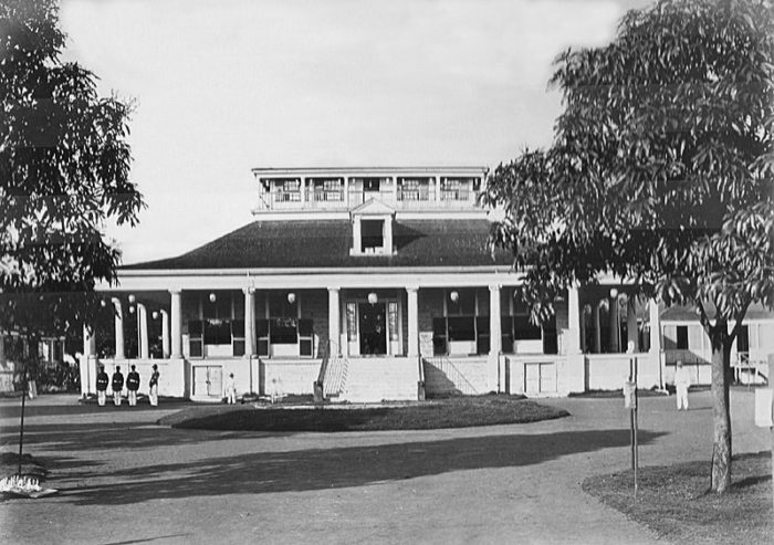 15. The original Hale Ali'i, home to King Kamehameha IV and Queen Emma, on the site that is now home to the Iolani Palace.