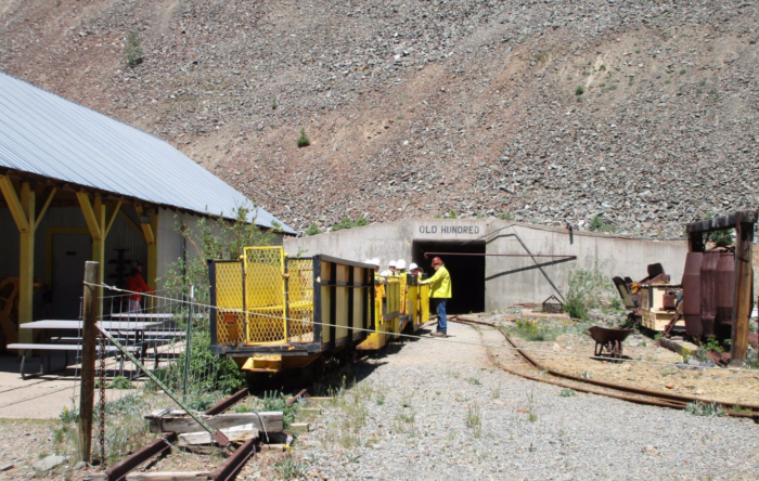 ...and even get the opportunity to ride in an authentic vintage electric powered mine train.
