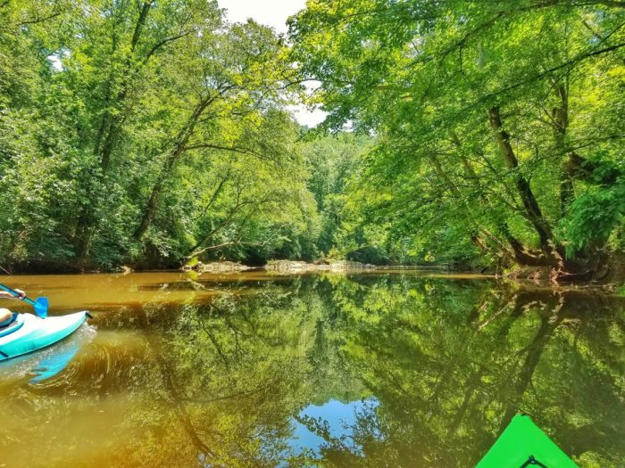 Uwharrie River 7 - Reflections on glass water