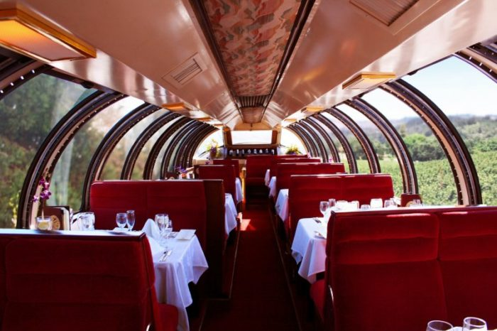 Or go all out in the lavish, exclusive 1952 domed railcar, which offers some incredible panoramic views along the journey.