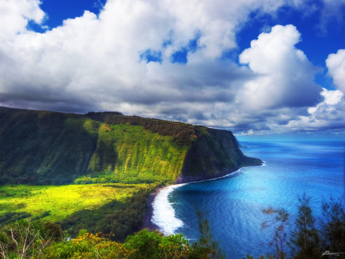 Though Waipio Valley is absolutely breathtaking, the road to the valley's floor from the lookout is pretty gnarly, gaining 800 vertical feet in just 0.6 miles, making it the steepest road of its length in the United States.