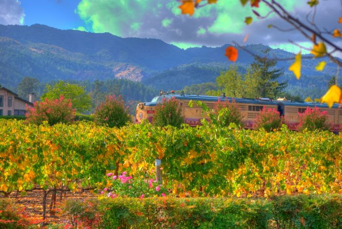 The Wine Train will then pass through Oak Knoll, Yountville, Oakville, Rutherford, and St. Helena.