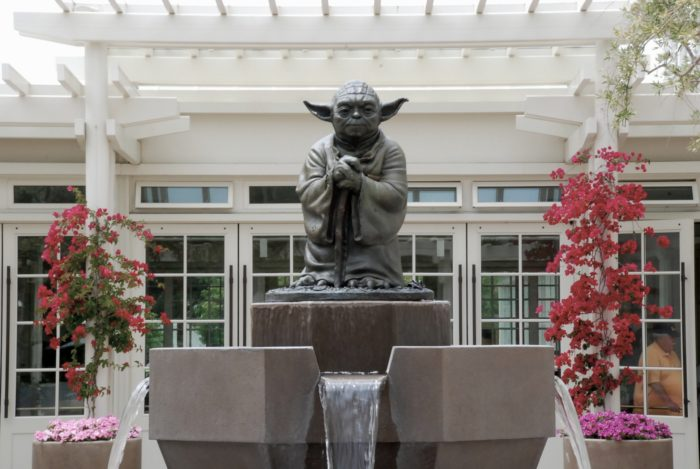 4. The Yoda Fountain at Lucasfilm