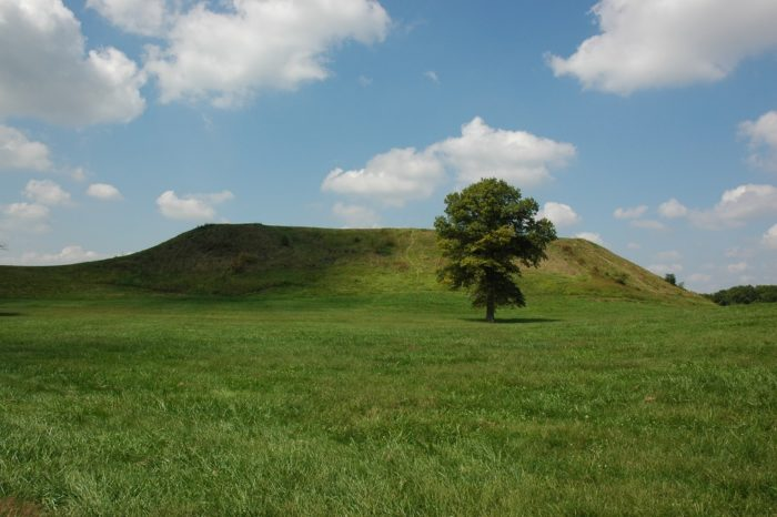 They were also very much about faith, which is why they built Monks Mound--a large mound that is entirely man made from millions of buckets of dirt.