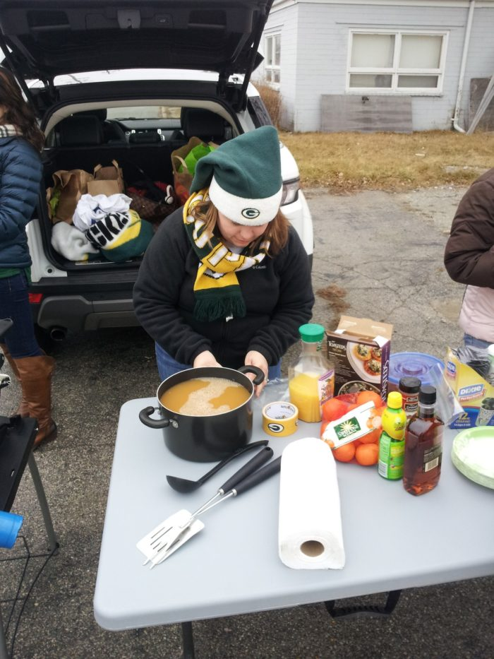 4. It's not uncommon to start tailgating for a night game at Lambeau at 6 in the morning.