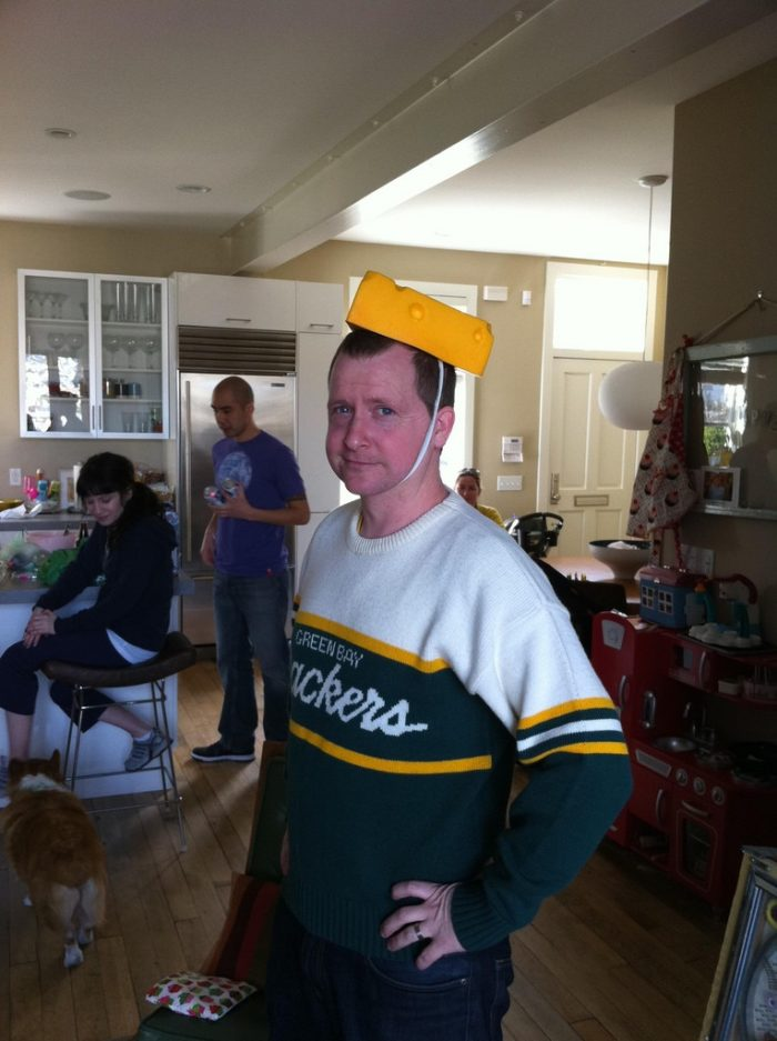 6. Everyone has worn cheese on his head.