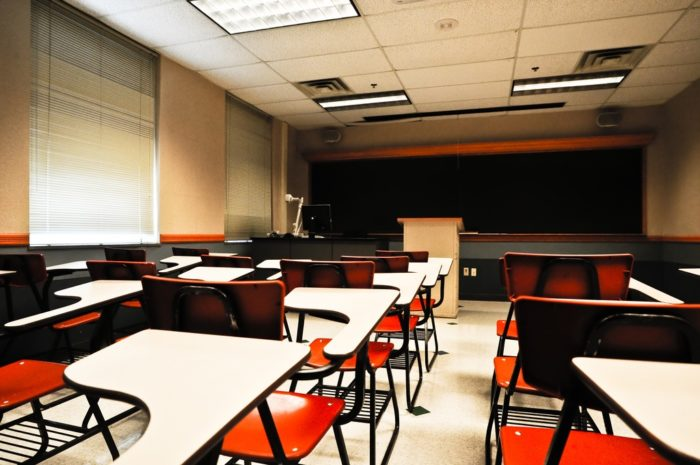 8. During hunting week, it's not uncommon for classrooms to look like this.