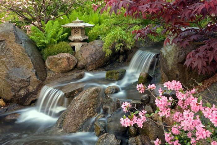 There are loads of waterfalls, ponds and streams at this garden.