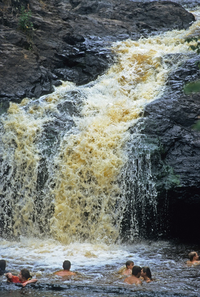 But see this large rush of water? You can actually WALK BEHIND IT.