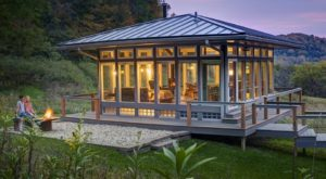 You Can Stay at a Completely Glass Cabin in Wisconsin