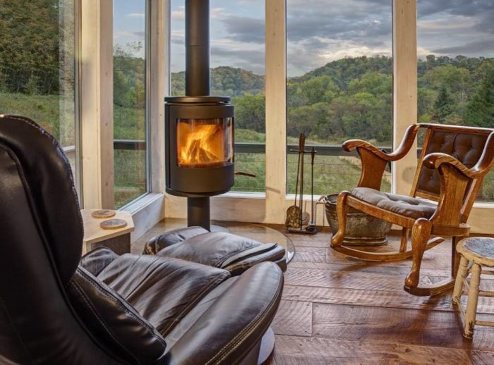 And can you imagine sitting by this fireplace as the outside is completely snow covered?