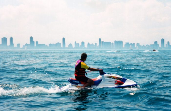 It is best explored by watercraft, whether that's  by jet ski, canoe, or even pontoon boat.
