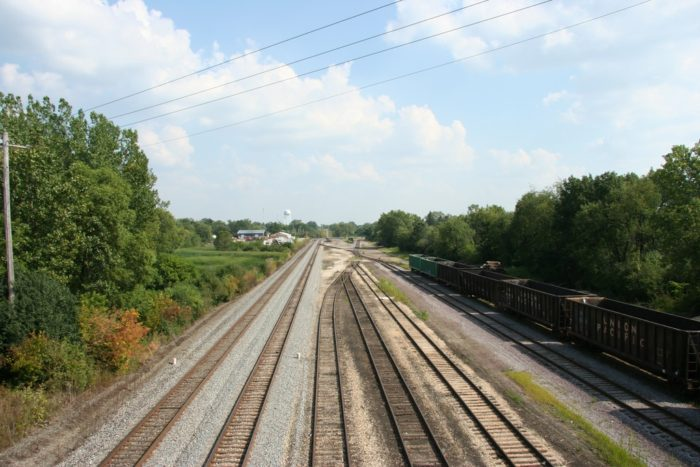 2. 61 miles of railway was converted into this trail, but you can still see rails as you go by.