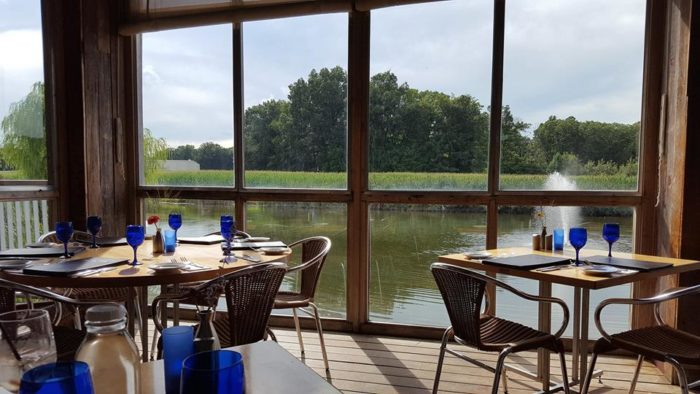 The dining area offers one of the most gorgeous views.
