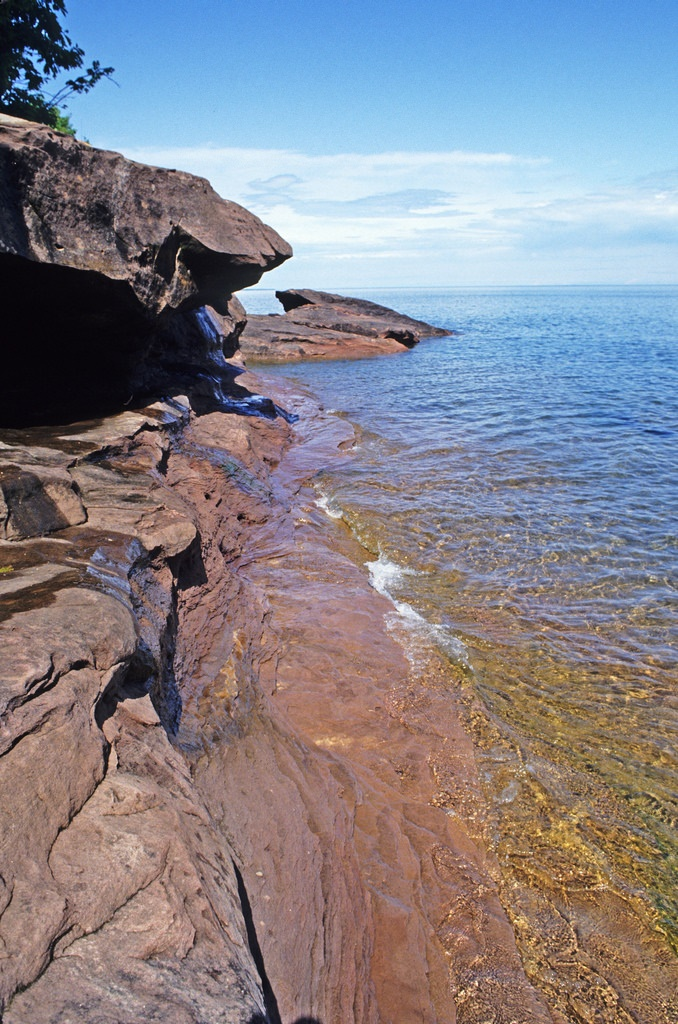 You get truly stunning views of Lake Superior.