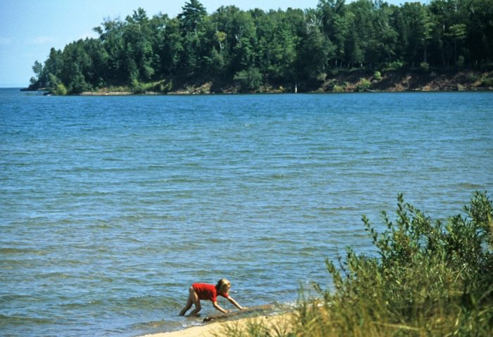 And wow, this lake might be the bluest body of water you have ever seen.