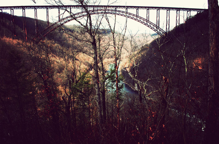 The New River Gorge Bridge is one of the iconic images of West Virginia scenery.