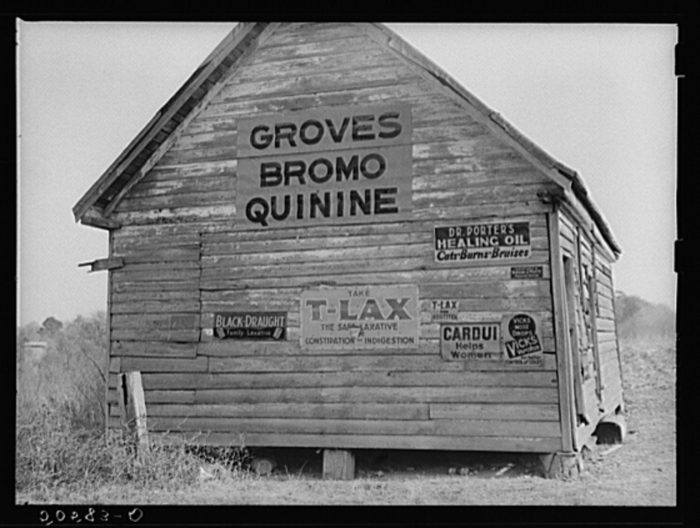 6. Advertising on the side of barns and other buildings. It seems no matter where you lived, in a big city or small town, you still needed to buy certain things.