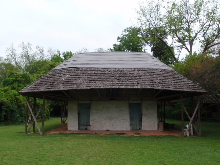 This structure, known as the Africa house, has been under some historic scrutiny.
