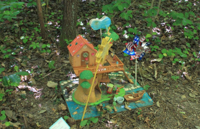 Stroll through the grounds to see these enchanting fairy houses up close.