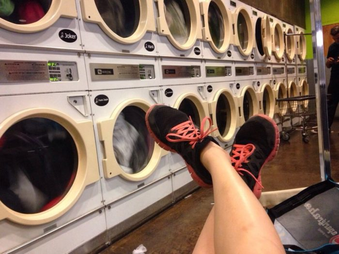 Cafe + Diner + Coffee Shop + Nightclub = The Coolest Laundromat EVER!